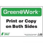 """Zing Green Products 1013, Green at Work Sign """"Print Or Copy On Bot…"""""""