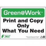 """Zing Green Products 1014, Green at Work Sign """"Print and Copy Only …"""""""
