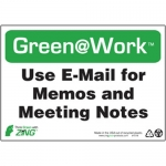"""Zing Green Products 1018, Green at Work Sign """"Use E-Mail for Memos…"""""""