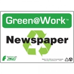 """Zing Green Products 1022, Green at Work """"Newspaper"""" with Sign"""