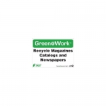 """Zing Green Products 1033, Green at Work Sign """"Recycle Magazines …"""""""