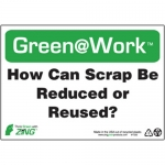 """Zing Green Products 1035, Green at Work Sign """"How Can Scrap Be …"""""""