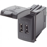 Blue Sea Systems 1039B-BSS, Fast Charge, Dual USB Charger Switch Mount