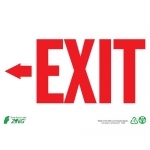 """Zing Green Products 2082, """"Exit"""" Left Arrow Plastic Safety Sign"""