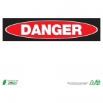Zing Green Products 1088, Eco Danger Safety Blank Sign