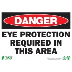 """Zing Green Products 1097A, Eco """"Danger Eye Protection Required"""" Sign"""