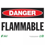"""Zing Green Products 1098A, Eco """"Danger Flammable"""" Aluminum Safety Sign"""