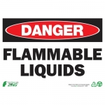 """Zing Green Products 1099, Eco """"Danger Flammable Liquids"""" Safety Sign"""