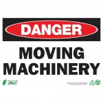 """Zing Green Products 1108, Eco """"Danger Moving Machinery"""" Safety Sign"""