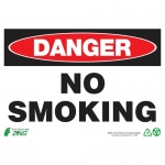 """Zing Green Products 2109, Eco """"Danger No Smoking"""" Plastic Safety Sign"""