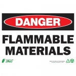 """Zing Green Products 1123, Eco """"Danger Flammable Materials"""" Safety Sign"""