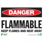 """Zing Green Products 1125, Eco Sign """"Danger Flammable Keep Flames…"""""""