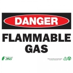 """Zing Green Products 2127, Eco """"Danger Flammable Gas"""" Safety Sign"""