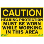"""Zing Green Products 1151A, Eco Safety Sign """"Caution Hearing Protec…"""""""