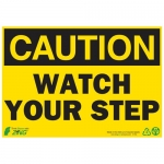 """Zing Green Products 1154, Eco """"Caution Watch Your Step"""" Safety Sign"""