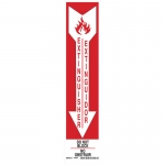 Brady 124563, Bilingual Extinguisher Do Not Block Sign