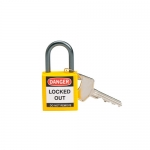 Brady 143158, Yellow Nylon Compact Safety Padlock with 1″ Shackle