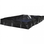 Brady 148836, Durable L Rod Spill Berm, 10′ x 15′ x 12″, 30 oz., Black