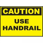 """Zing Green Products 20128, Safety Sign """"Caution, Use Hand Rail"""""""