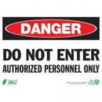 """Zing Green Products 2094, Eco Safety Sign """"Danger Do Not Enter…"""""""