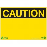 Zing Green Products 2144, Eco Plastic Safety Caution Blank Sign