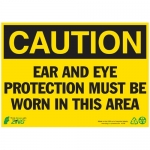 """Zing Green Products 2146A, Eco Sign """"Caution Ear and Eye Protectio…"""""""