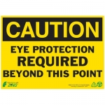 """Zing Green Products 2147A, Eco """"Caution Eye Protection Required"""" Sign"""