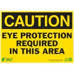 """Zing Green Products 2148A, Eco Sign """"Caution Eye Protection …"""""""