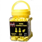 Morris 23374, P4 Type Yellow Screw-On Wire Connector, Pack of 250 pcs