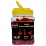Morris 23386, Red Winged Twist Connector, Pack of 100 pcs
