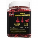 Morris 23486, Red Winged Twist Connector, Pack of 300 pcs