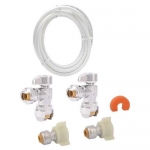 Sharkbite 25087, Faucet Connector Kit with Angle Stop in Retail Bag