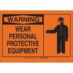 Brady 26542, 10″ x 14″ Polystyrene Wear Personal Protection Sign