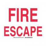 Brady 28031, 10″ x 14″ Polystyrene Fire escape Sign