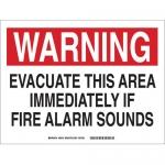 Brady 28319, Evacuate This Area Immediately… Sign