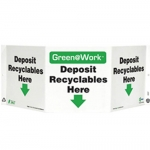 """Zing Green Products 3007, Green at Work Sign """"Deposit Recyclables …"""""""