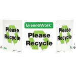 """Zing Green Products 3009, Green at Work Sign """"Please Recycle"""""""