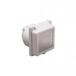 Marinco 301EL-B, 30 Amp 125V White Power Easy Lock Inlet w/ Steel Trim