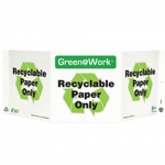 """Zing Green Products 3026, Green at Work Sign """"Recyclable Paper Only"""""""