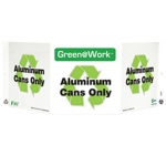 """Zing Green Products 3028, Green at Work Sign """"Aluminum Cans Only"""""""