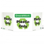 """Zing Green Products 3031, Green at Work Sign """"Plastic Only"""""""