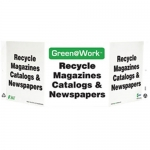 """Zing Green Products 3033, Green at Work Sign """"Recycle Magazines…"""""""