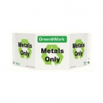 """Zing Green Products 3041, Green at Work Sign """"Metals Only"""""""