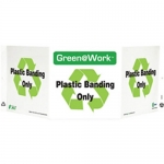 """Zing Green Products 3046, Green at Work Sign """"Plastic Banding Only"""""""