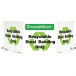 """Zing Green Products 3047, Green at Work Sign """"Recyclable Steel…"""""""