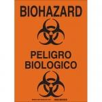 Brady 38624, 14″ x 10″ Polystyrene Bilingual Biohazard Sign