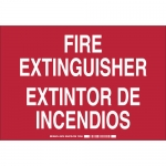 Brady 38752, Fire Extinguisher Sign, White on Red