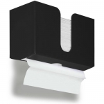 TrippNT 51972, Small Black Dual Dispensing PETG Paper Towel Holder