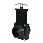 Valterra 5205, ABS Black MPT x Slip Ends Gate Valve w/ Paddle & Handle