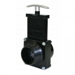 Valterra 5208, ABS Black FPT x MPT Ends Gate Valve w/ Paddle & Handle